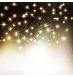 Merry christmas holiday background with shiny star vector