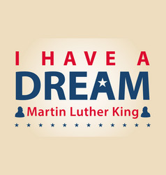 mlk day vector image