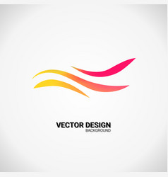 Modern business icon geometric emblem abstract vector