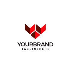 modern logo letter w vector image
