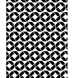 Monochrome endless texture with geometric figures vector