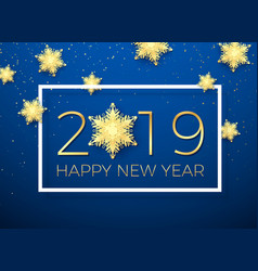 new year greeting card golden text happy new year vector image