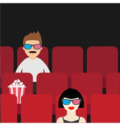 People sitting in movie theater Film show Cinema vector image