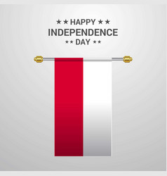 Poland independence day hanging flag background vector