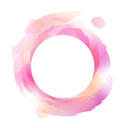 round frame with multicolored strokes vector image