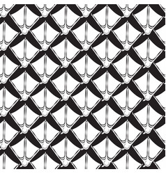 Seamless pattern crows feet vector