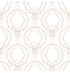 Seamless pattern with geometric symbols for the vector