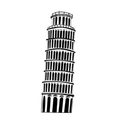 Sketch Pisa tower vector image