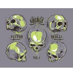 Skulls Hand Drawn Set 2 vector image
