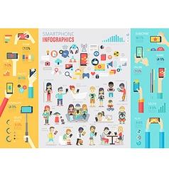 smartphone info vector image