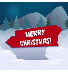 Snow landscape background vector image