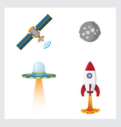 space color icons vector image