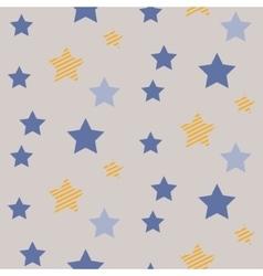 Stars on night sky boy seamless pattern vector image