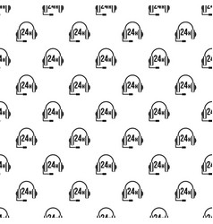 Support 24 hours pattern vector