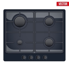 Surface of gas stove vector