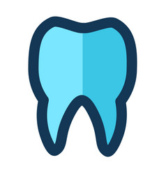tooth medical icon filled line pink blue color vector image