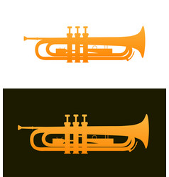 Trumpet - jazz music instrument with good details vector