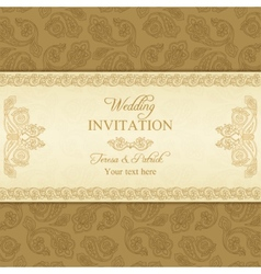 Turkish cucumber wedding invitation gold vector image