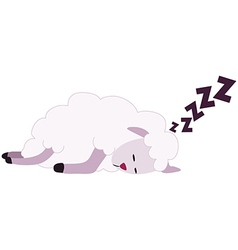 White Sheep Sleeping vector image