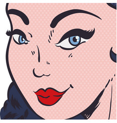 Woman pop art comic vector
