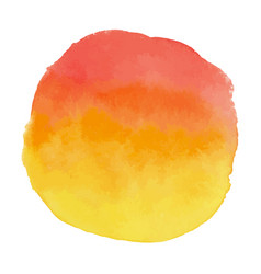yellow and orange watercolor banner blot vector image