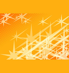 yellow background stars vector image