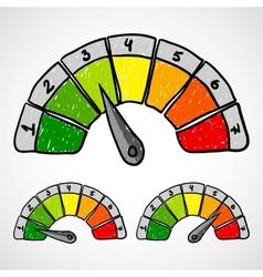 Energy efficiency rating Doodle vector image