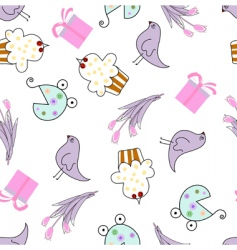 greeting seamless pattern vector image