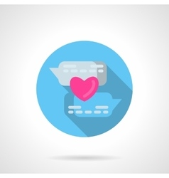 Online declaration of love round icon vector image
