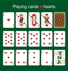 Playing cards Hearts vector image