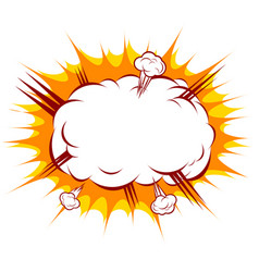 an explosion in a comic style vector image