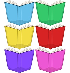 Colorful Books Pack vector image