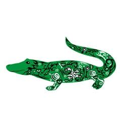 crocodile green vector image