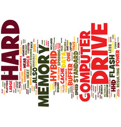 Flash in the platter hybrid hard drives text vector