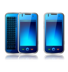 qwerty mobile phone vector image vector image