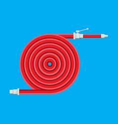 water hose to extinguish the fire fire equipment vector image