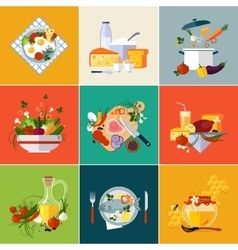 Cooking Restaurant and Vegetarian food vector image vector image
