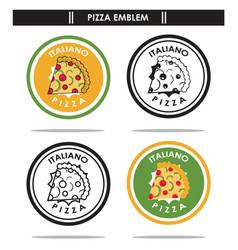 italiano pizza emblem vector image vector image