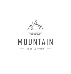 mountain logo template travel and adventure vector image vector image
