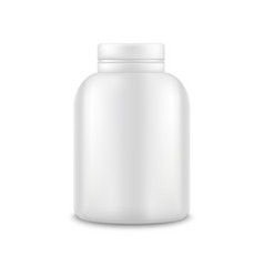 realistic template blank white protein bottle vector image vector image