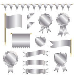 silver decorations vector image vector image