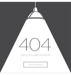 404 Error Page in retro-style vector image