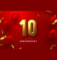 10 years anniversary celebration banner vector
