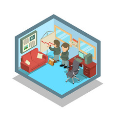 Accountant concept banner isometric style vector