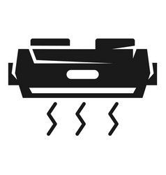 air conditioning front view icon simple style vector image