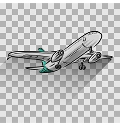 Airplane isolated on transparent vector image