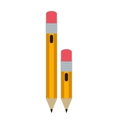 Big and small design pencil with eraser vector