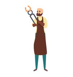 Blacksmith hot tongs icon cartoon style vector