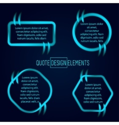 Block quote and pull design elements vector