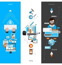Blogging Banner Set vector image